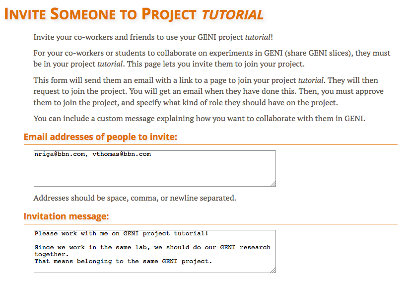 Create a GENI Project