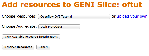 Create a GENI Project