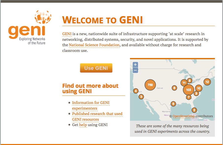 Login to GENI