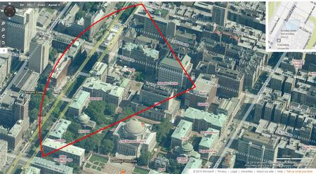 Campus WiMAX radio coverage-aerial view