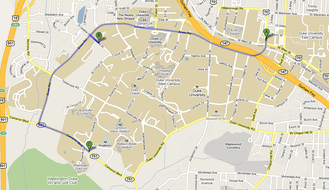 Directions from Conference Hotel and Demo Arena to Fedex print Center